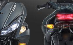 Sporty LED Headlight & Tail Aerox 155