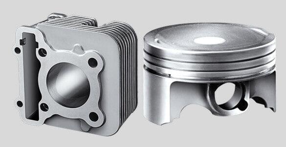 Forged Piston & DiAsil Cylinder Yamaha